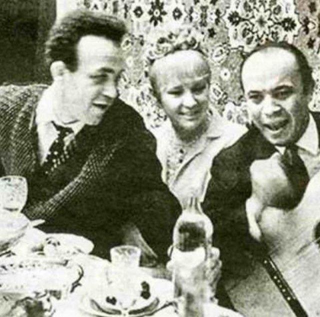 Редкие застольные фото советских знаменитостей (24 фото)