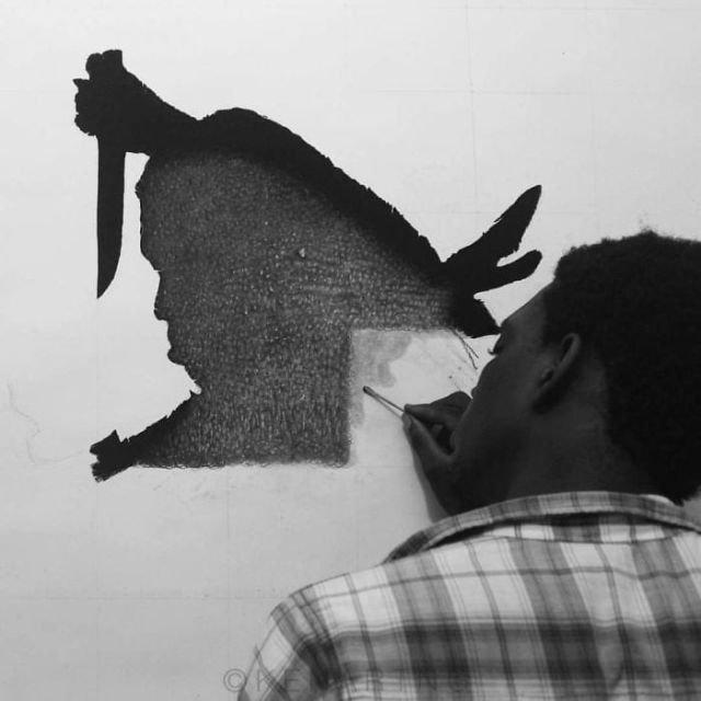 Трехмерный гиперреализм от нигерийского художника Кена Нвадигубу (20 фото)