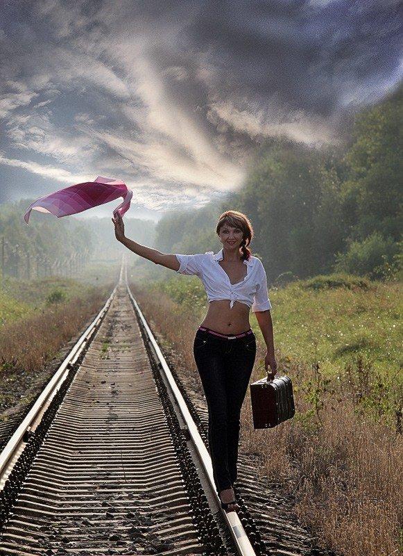 Девушки и дороги (31 фото)