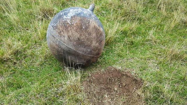 В Перу с неба упал неизвестный шар с русскими буквами (4 фото)