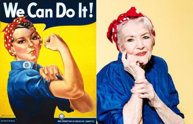 Умерла американка с известного пропагандистского плаката (3 фото)