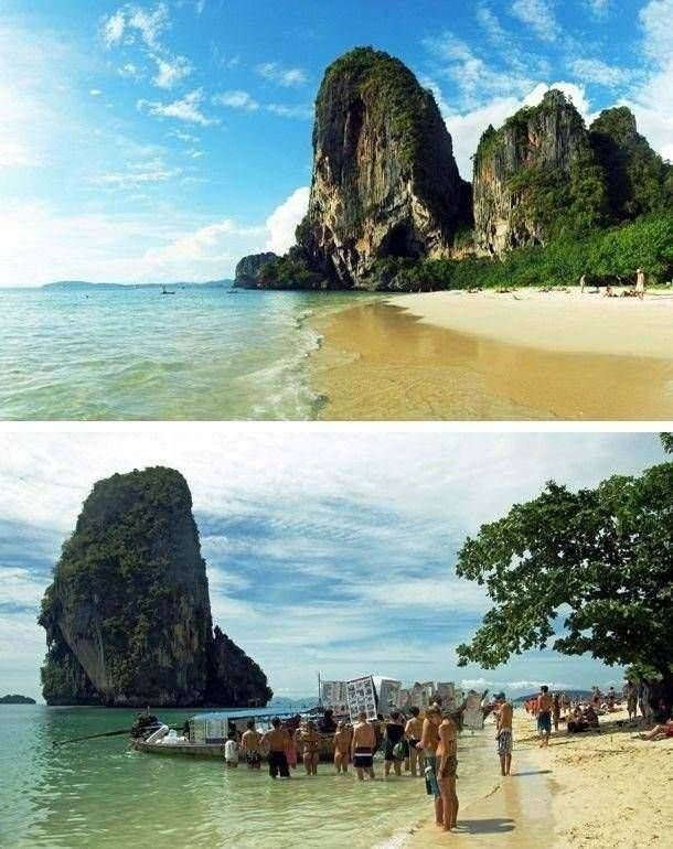 Популярные туристические места на фото и в реальности (25 фото)
