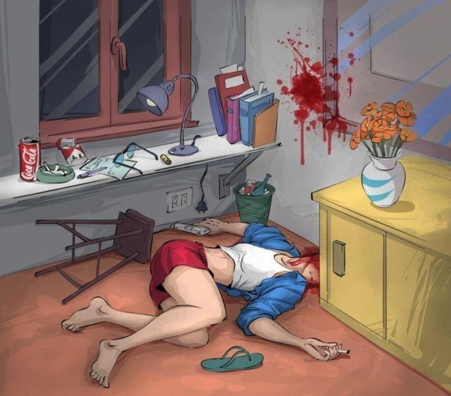 Что здесь произошло - убийство или самоубийство?