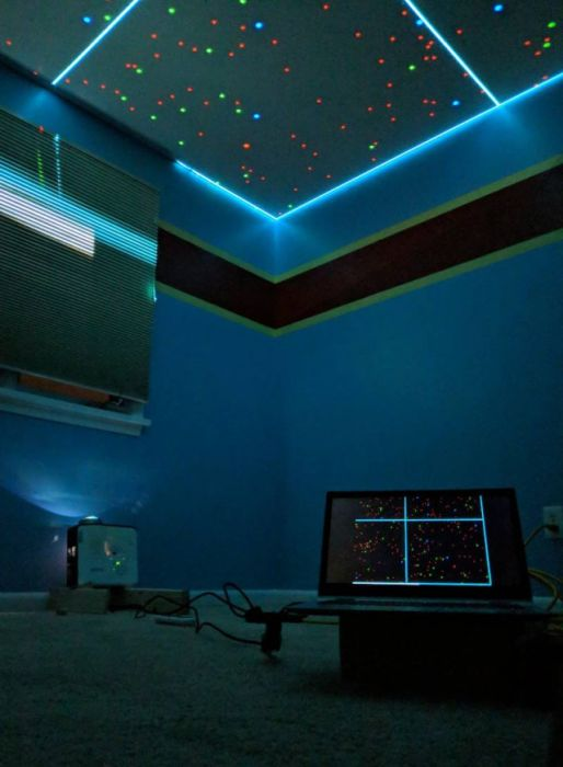 Будущий отец сделал звездное небо в спальне дочери (22 фото)