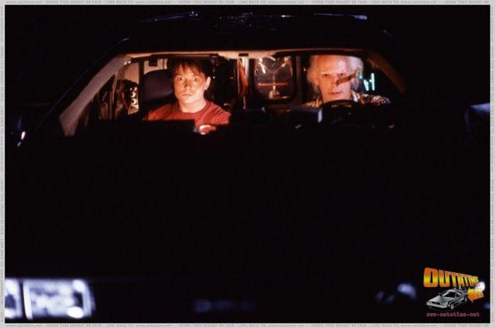 Интересные кадры со съемок «Назад в будущее» (46 фото)