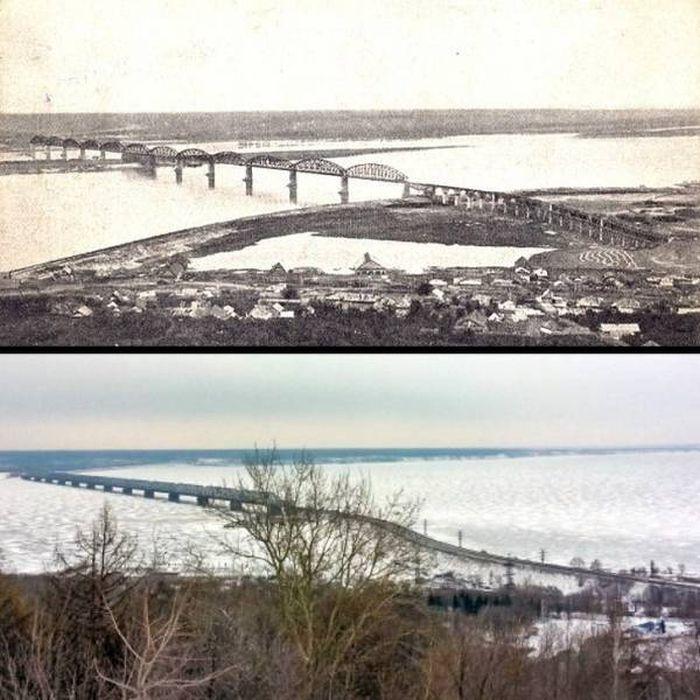 """Интересные снимки в формате """"до и после"""" (33 фото)"""