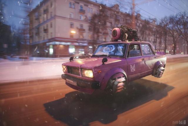 Россия-2077: киберпанк по-русски (9 фото)