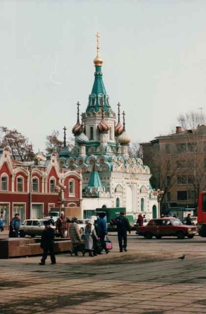 Архивные фотографии немецкого туриста. Россия, март 1992 года (20 фото)