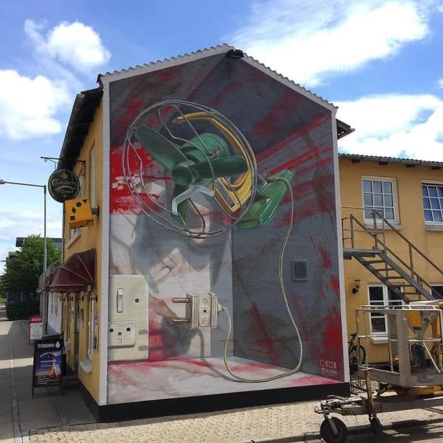 Невероятно реалистичные 3D-граффити (20 фото)