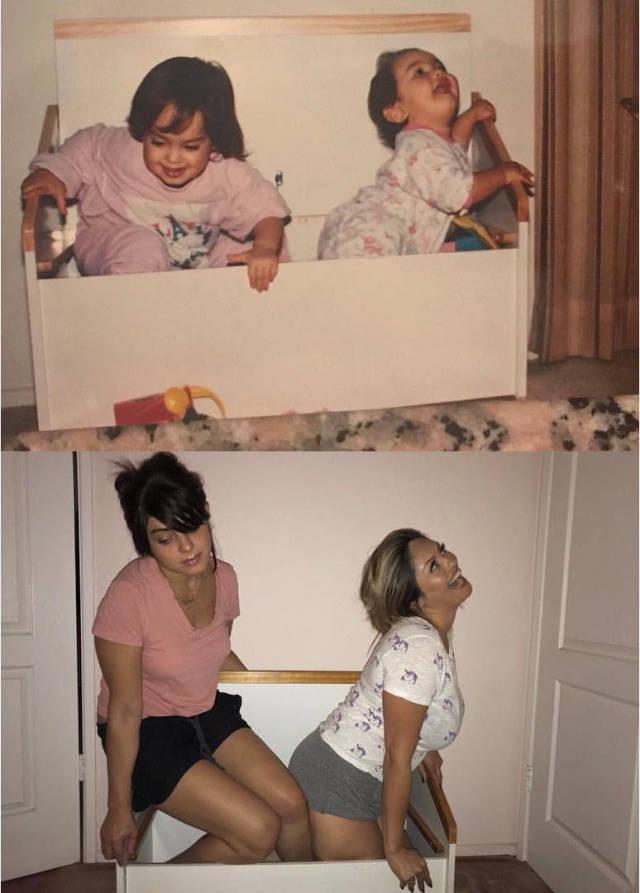 """Фотографии спустя годы в стиле: """"Тогда и сейчас"""" (23 фото)"""
