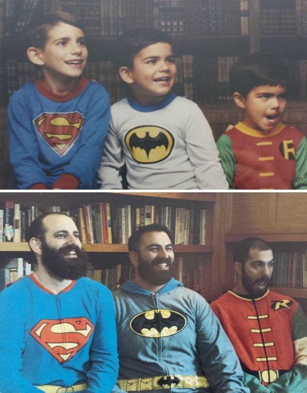 Воссоздание фотографий спустя много лет (20 фото)