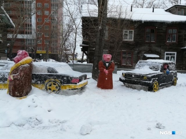 Креативное уличное искусство в Новосибирске (2 фото)