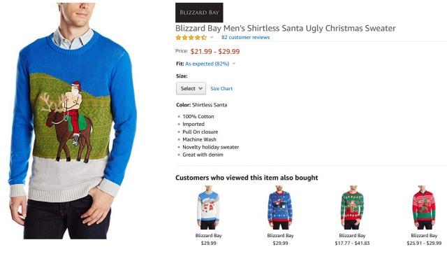 На Amazon продают свитера с Санта-Клаусом - Владимиром Путиным (2 фото)