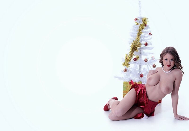 Сексуальные снегурочки поздравляют всех с наступающим Новым годом! (33 фото)