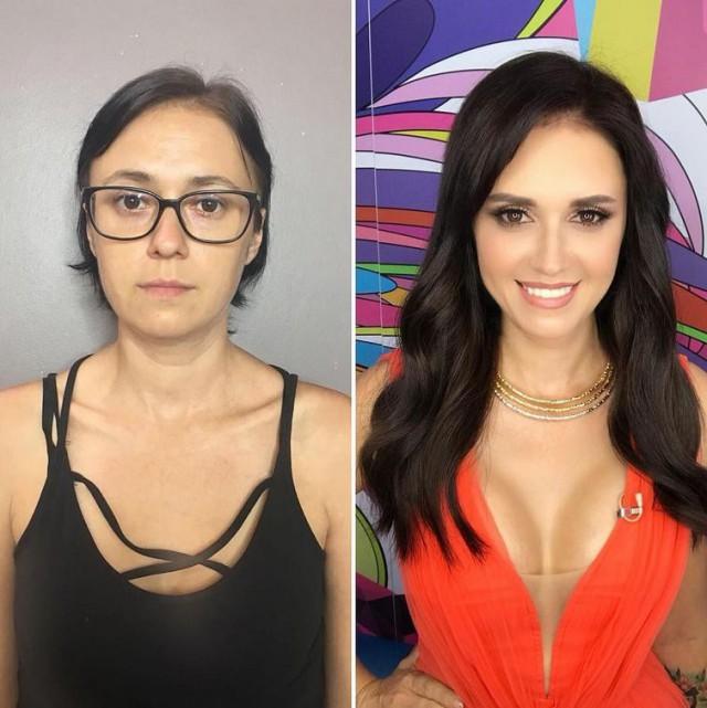 Сила современного макияжа (23 фото)