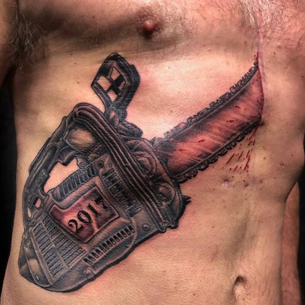 Татуировки, скрывающие изъяны на теле (41 фото)