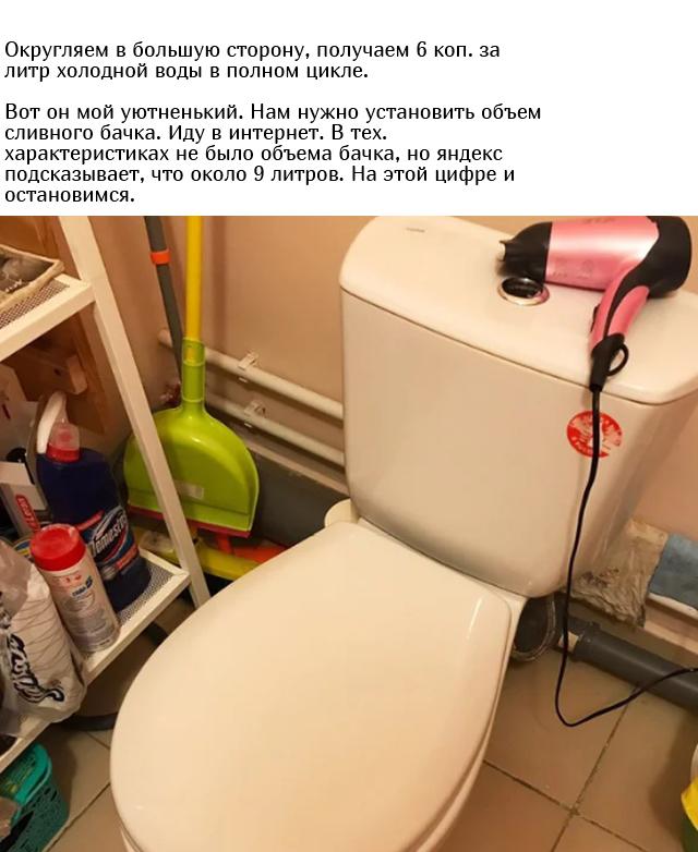 Сколько стоит один смыв воды в унитазе? (4 фото)