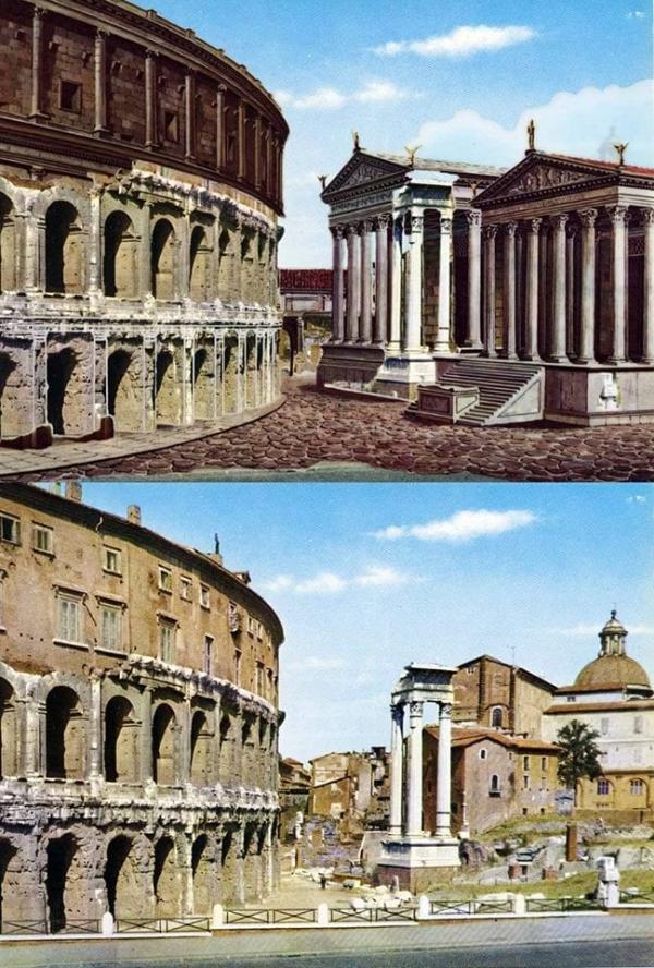 Как выглядели известные сооружения Римской империи 2 тысяч лет назад (12 фото)