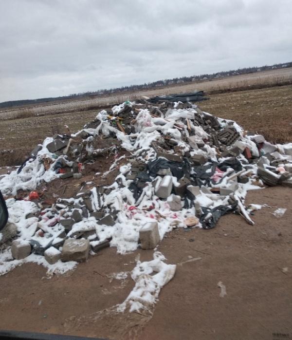 """Водители не оставили безнаказанным """"вывоз"""" строительного мусора (7 фото)"""