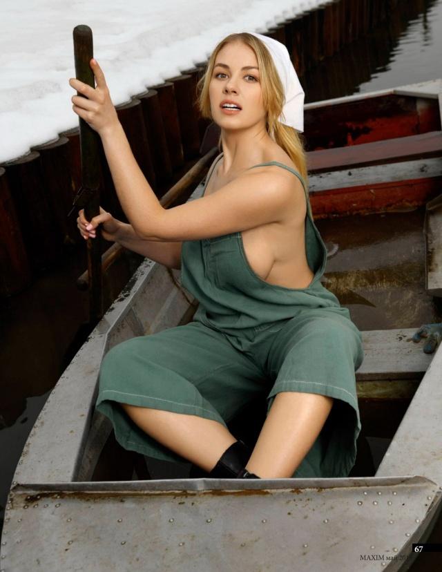 Актриса Олеся Фаттахова в откровенной фотосессии для журнала Maxim (4 фото)