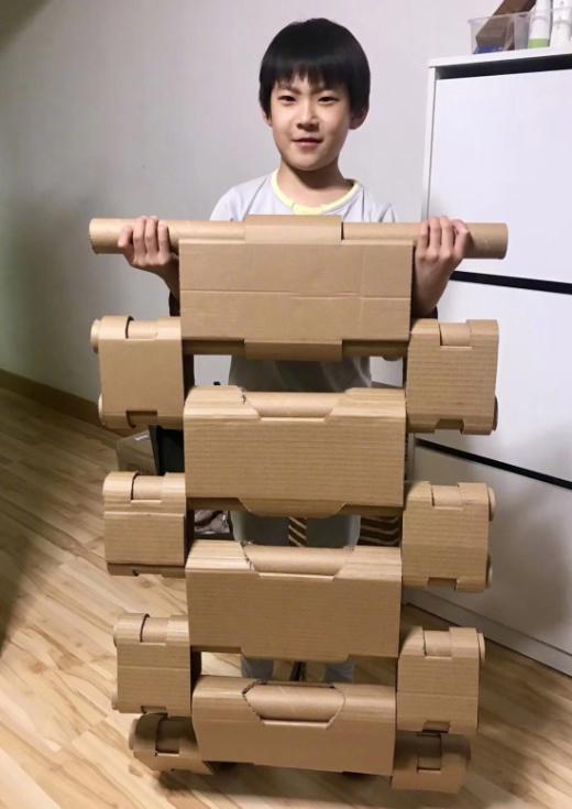 Как вы думаете, что можно собрать из всего этого картона? (16 фото)