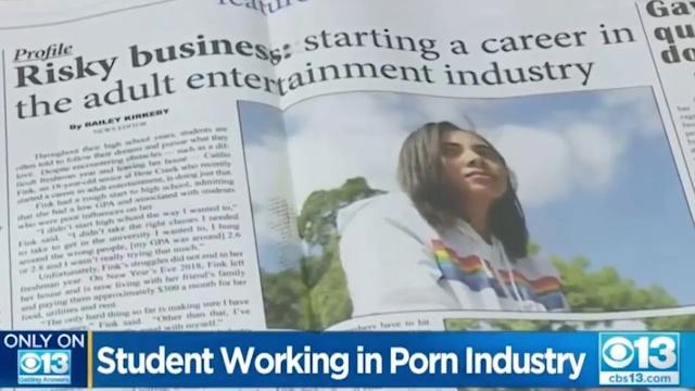 18-летняя американская школьница Кейтлин Финк не стесняется того, что снимается в фильмах для взрослых (10 фото)
