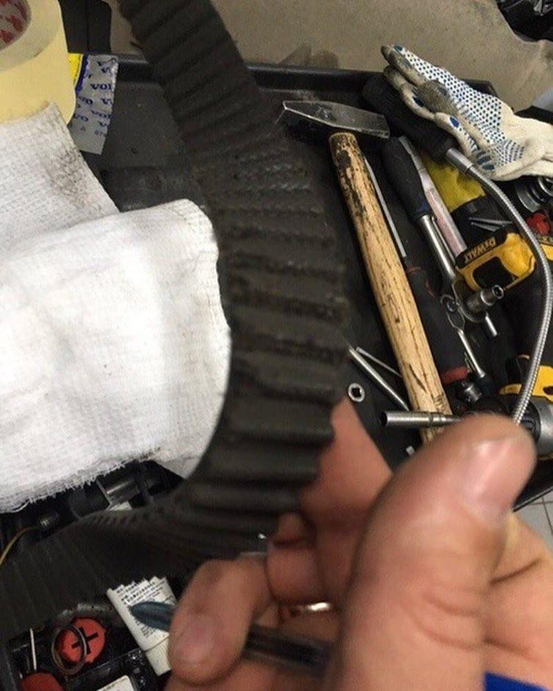 Механики забыли под капотом тряпку и что из этого вышло